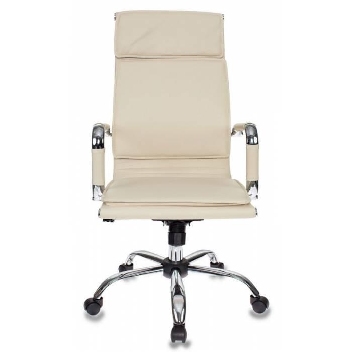 Кресло руководителя Бюрократ CH-993/ivory слоновая кость искусственная кожа крестовина хром купить по выгодным ценам