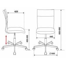 Кресло Бюрократ CH-1399/GREY спинка сетка серый сиденье серый искусственная кожа крестовина металл