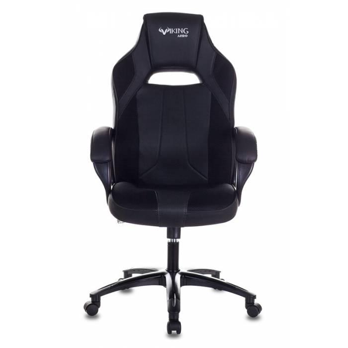 Кресло игровое Бюрократ VIKING 2 AERO BLACK EDITION черный искусственная кожа купить по выгодным ценам