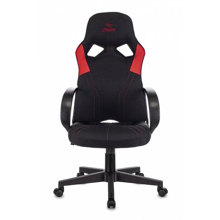 Кресло игровое Бюрократ ZOMBIE RUNNER RED черный/красный текстиль/эко.кожа крестовина пластик купить по выгодным ценам