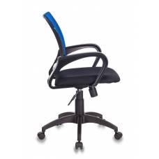 Кресло Бюрократ CH-695N/BL/TW-11 спинка сетка синий TW-05 сиденье черный TW-11