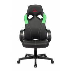 Игровое кресло Бюрократ ZOMBIE RUNNER черный/зеленый искусственная кожа крестовина пластик