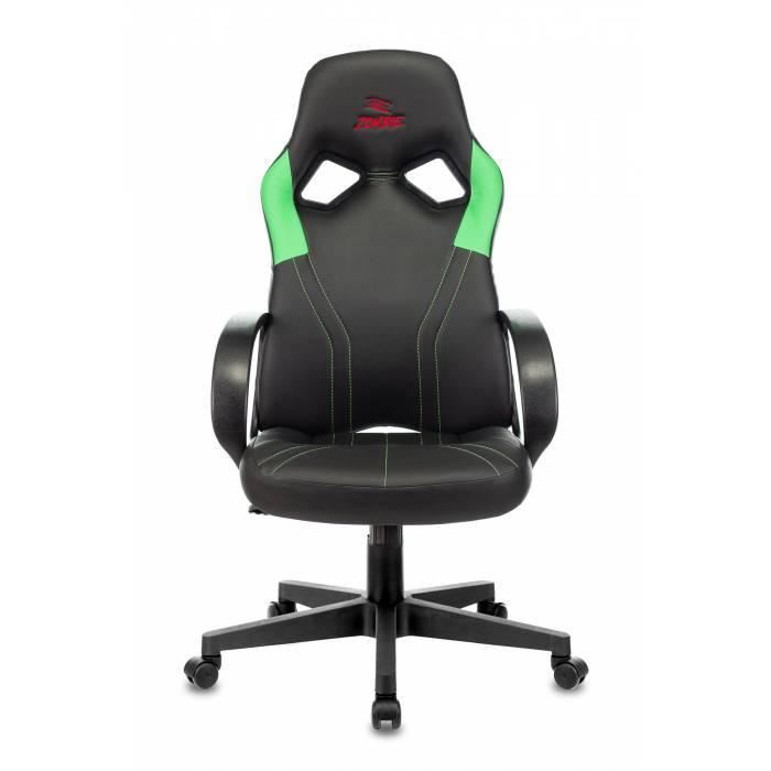 Игровое кресло Бюрократ ZOMBIE RUNNER черный/зеленый искусственная кожа крестовина пластик купить по выгодным ценам