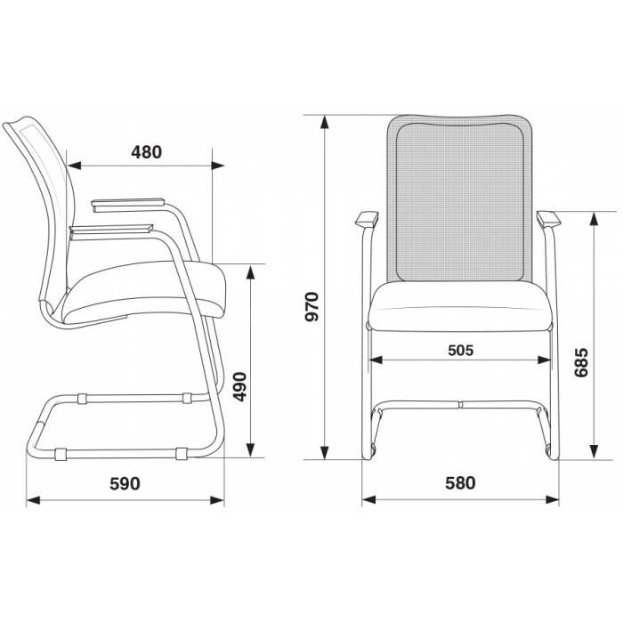 Кресло Бюрократ CH-599AV/32G/TW-11 на полозьях серый TW-32K03 сиденье черный TW-11 купить по выгодным ценам