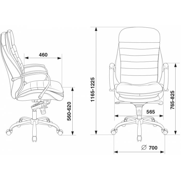 Кресло руководителя Бюрократ T-9950/BLACK-PU сиденье черный искусственная кожа крестовина хром купить по выгодным ценам