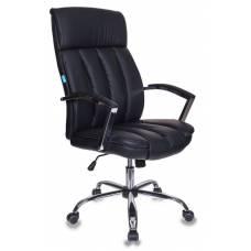 Кресло руководителя Бюрократ T-8000SL/BL+BLACK черный искусственная кожа крестовина хром