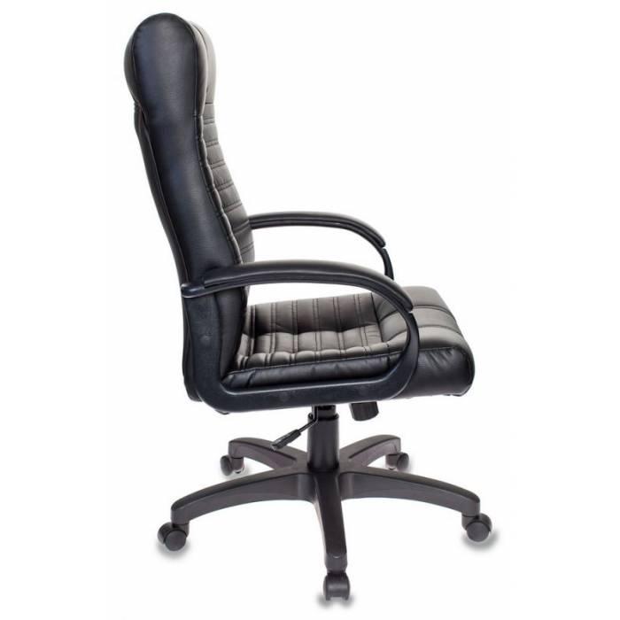 Кресло Бюрократ KB-10 черный искусственная кожа крестовина пластик купить по выгодным ценам