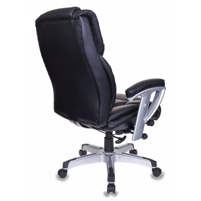 Кресло Бюрократ T-9999 черный рец.кожа/кожзам крестовина металл/пластик пластик серебро купить по выгодным ценам