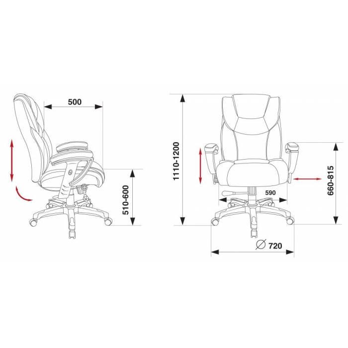 Кресло руководителя Бюрократ T-9999/BLACK черный рец.кожа/кожзам колеса черный (пластик серебро) купить по выгодным ценам