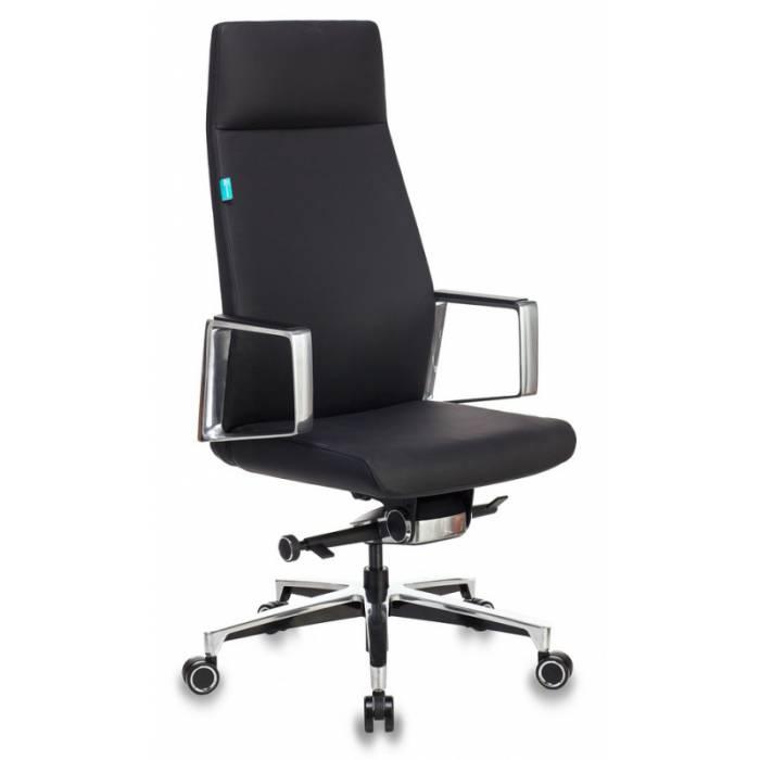 Кресло руководителя Бюрократ _JONS/BLACK черный кожа крестовина алюминий купить по выгодным ценам