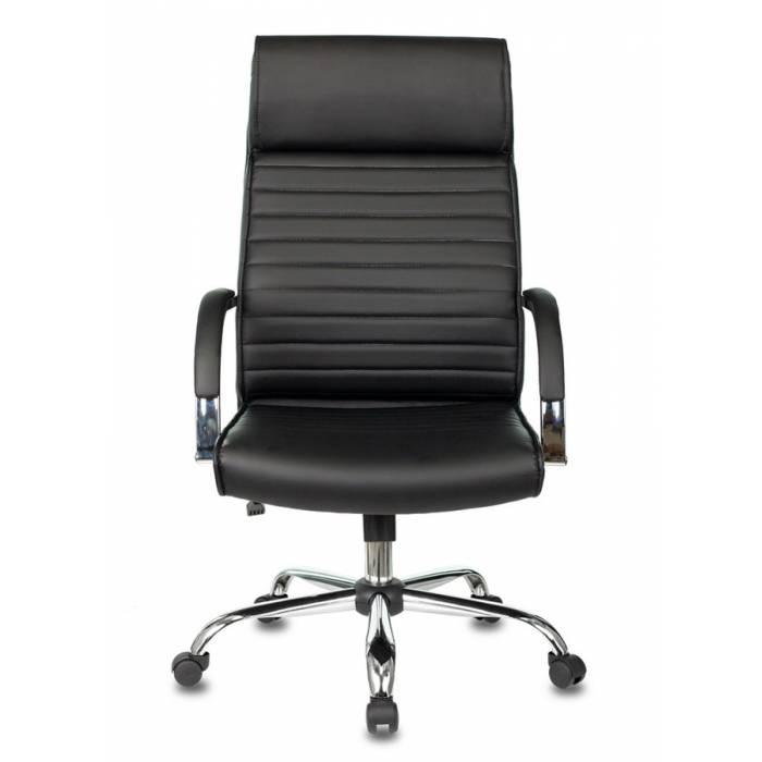 Кресло руководителя Бюрократ T-8010N/SL/BLACK черный искусственная кожа крестовина хром купить по выгодным ценам