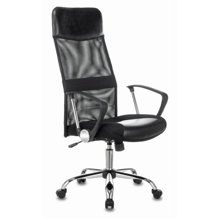 Кресло Бюрократ CH-600SL черный искусст.кожа/сетка/ткань крестовина металл хром купить по выгодным ценам