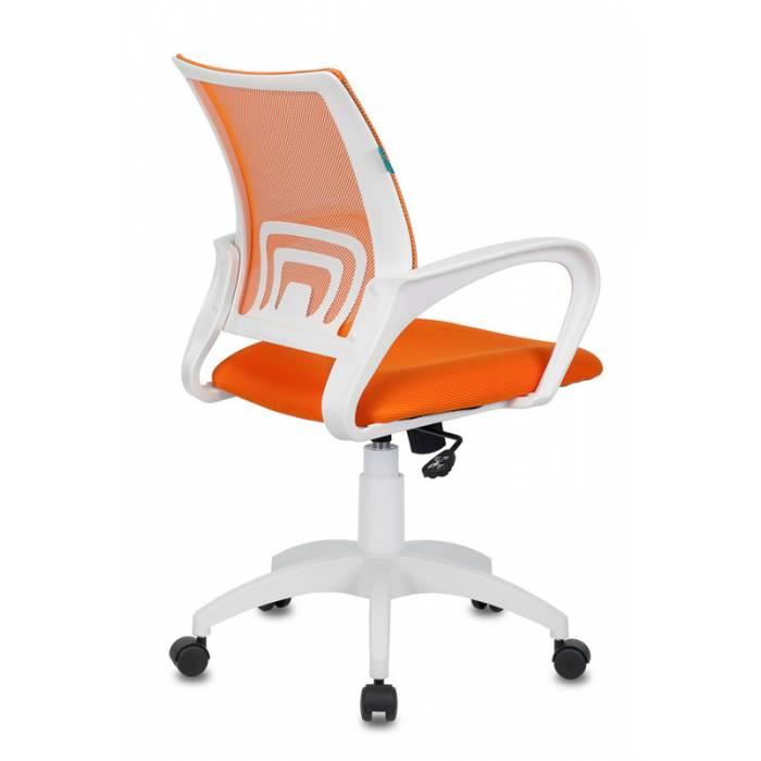 Кресло Бюрократ CH-W695N/OR/TW-96-1 оранжевый TW-38-3 TW-96-1 сетка/ткань (пластик белый) купить по выгодным ценам