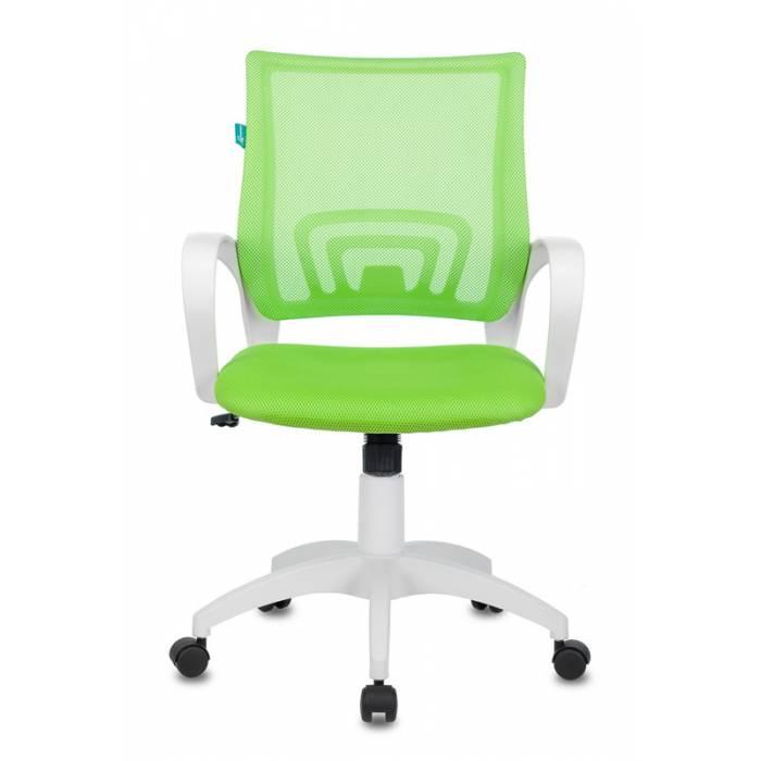 Кресло Бюрократ CH-W695N/SD/TW-18 салатовый TW-03A TW-18 сетка/ткань (пластик белый) купить по выгодным ценам