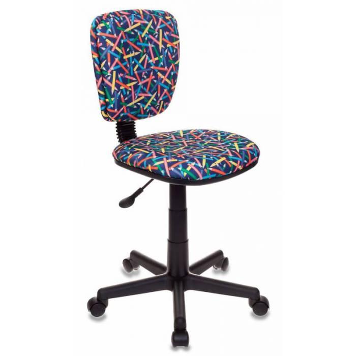 Кресло детское Бюрократ CH-204NX/PENCIL-BL синий карандаши купить по выгодным ценам