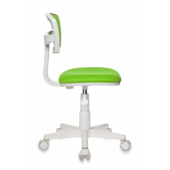 Кресло детское Бюрократ CH-W299/SD/TW-18 спинка сетка салатовый TW-03A TW-18 (пластик белый) купить по выгодным ценам