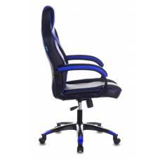 Кресло игровое Бюрократ VIKING 2 AERO BLUE черный/синий искусственная кожа