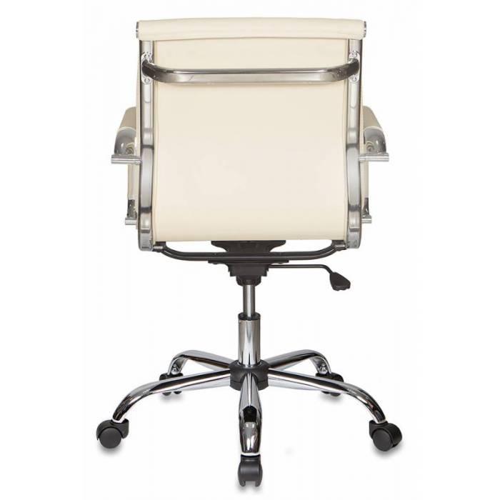 Кресло Бюрократ Ch-993-Low слоновая кость искусственная кожа низк.спин. крестовина металл хром купить по выгодным ценам