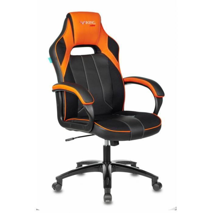 Кресло игровое Бюрократ VIKING 2 AERO ORANGE черный/оранжевый искусст.кожа/ткань купить по выгодным ценам