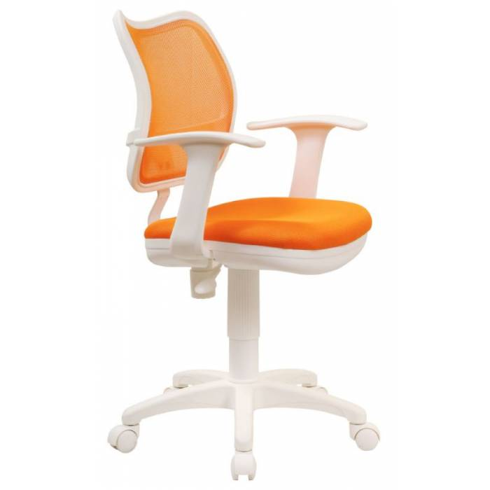 Детское кресло Бюрократ Ch-W797 оранжевый сиденье оранжевый TW-96-1 сетка/ткань крестовина пластик пластик белый купить по выгодным ценам
