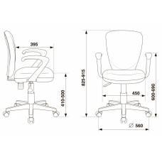 Кресло детское Бюрократ KD-W10AXSN/26-25 серый 26-25 (пластик белый)