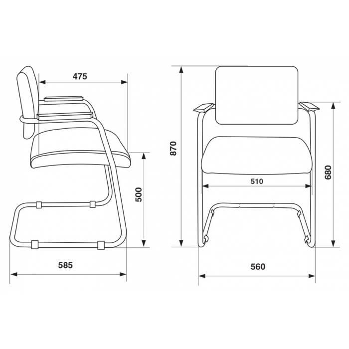 Кресло Бюрократ CH-271N-V/SL/BLACK черный зеркальный хром искусственная кожа купить по выгодным ценам