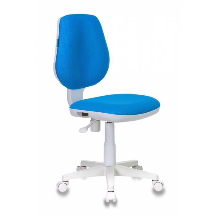Детское кресло Бюрократ CH-W213 голубой TW-55 крестовина пластик пластик белый купить по выгодным ценам