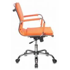 Кресло руководителя Бюрократ CH-993-Low/orange низкая спинка оранжевый искусственная кожа крестовина хром
