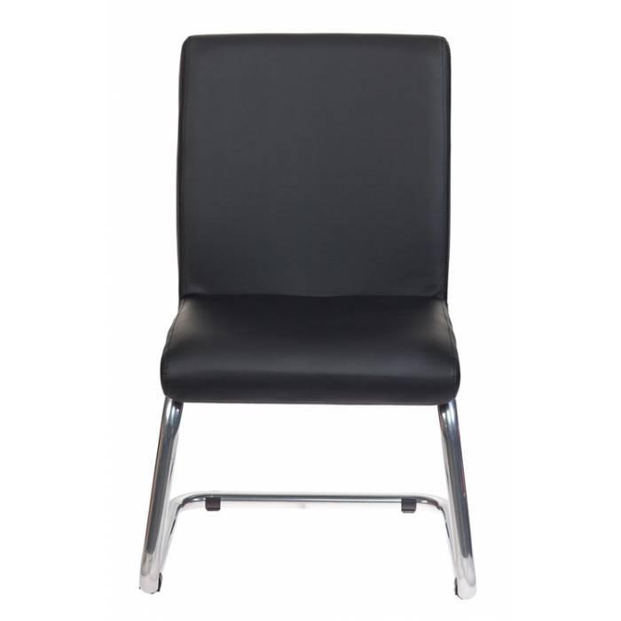 Кресло Бюрократ CH-250-V черный искусственная кожа полозья металл хром купить по выгодным ценам