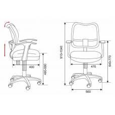 Кресло детское Бюрократ CH-W797/SD/TW-18 спинка сетка салатовый сиденье салатовый TW-18 колеса белый/салатовый (пластик белый)