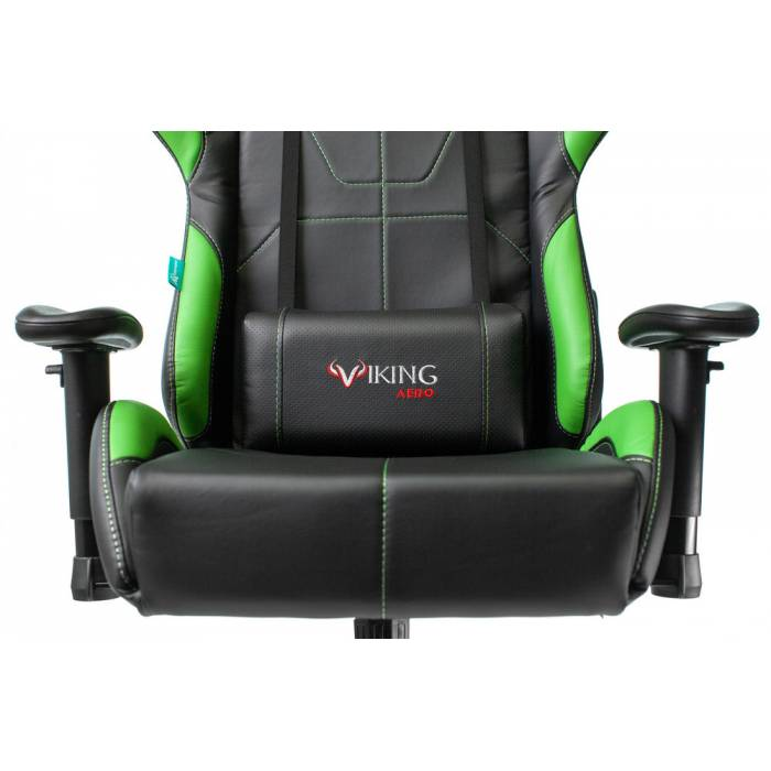 Игровое кресло Бюрократ VIKING 5 AERO черный/салатовый искусственная кожа с подголов. крестовина пластик купить по выгодным ценам