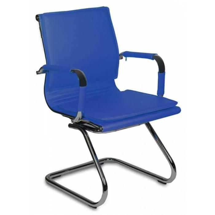 Кресло Бюрократ CH-993-Low-V/blue низкая спинка синий искусственная кожа купить по выгодным ценам