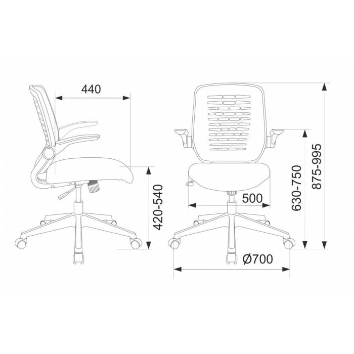 Кресло Бюрократ CH-495/BLACK спинка сетка черный TW-01 NEO сетка/ткань купить по выгодным ценам