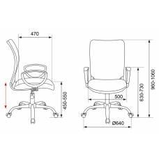 Кресло Бюрократ CH-599AXSL/32G/TW-11 спинка сетка серый TW-32K03 сиденье черный TW-11 крестовина хром
