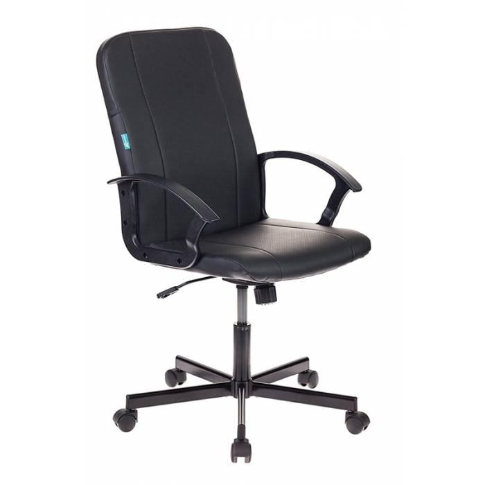 Кресло Бюрократ CH-551 черный Leather Black искусственная кожа крестовина металл черный купить по выгодным ценам
