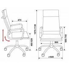 Кресло руководителя Бюрократ CH-993/grey серый искусственная кожа крестовина хром