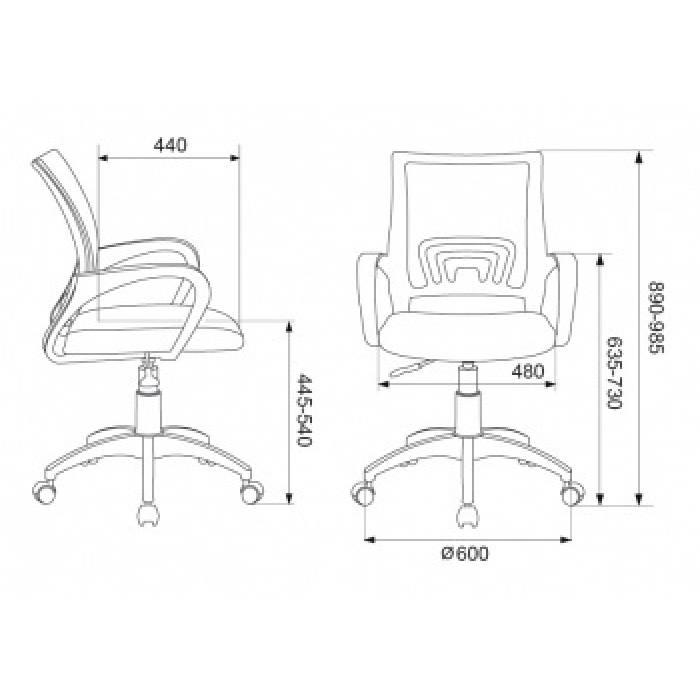 Кресло Бюрократ CH-695NLT синий TW-05 сиденье черный TW-11 сетка/ткань крестовина пластик купить по выгодным ценам