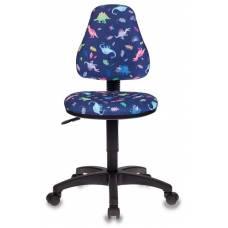 Кресло детское Бюрократ KD-4/DINO-BL синий динозаврики