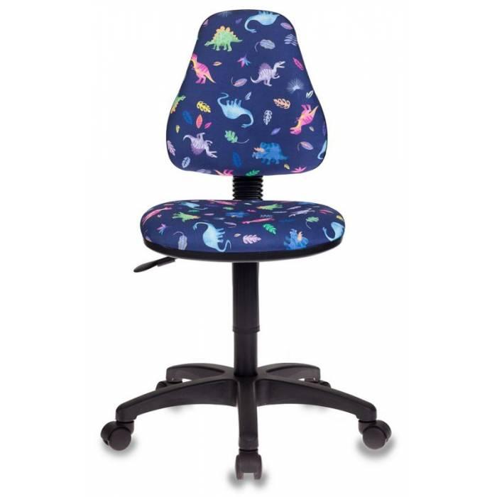 Кресло детское Бюрократ KD-4/DINO-BL синий динозаврики купить по выгодным ценам