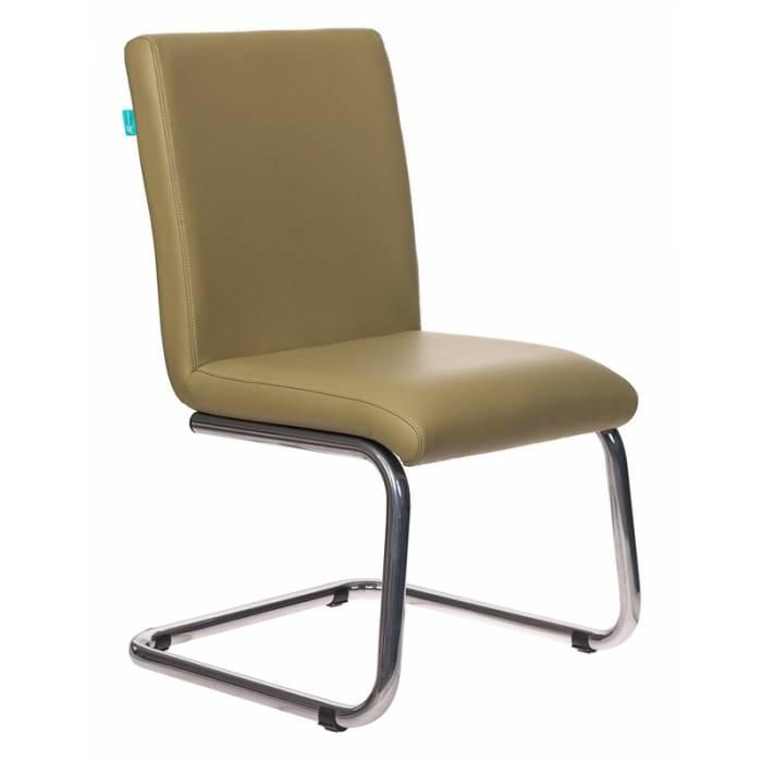 Кресло Бюрократ CH-250-V/KRIT-GREEN на полозьях зеленый искусственная кожа купить по выгодным ценам