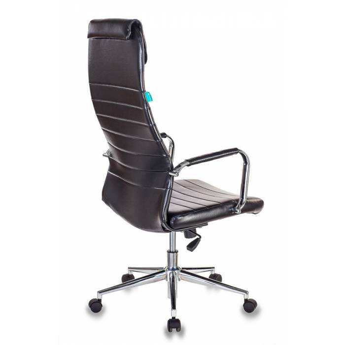 Кресло руководителя Бюрократ KB-9N/ECO/BLACK черный сиденье черный искусственная кожа крестовина хром колеса черный купить по выгодным ценам