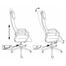 Кресло Бюрократ KB-9N/ECO черный искусственная кожа с подголов. крестовина металл хром