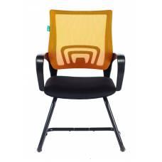Кресло Бюрократ CH-695N-AV/OR/TW-11 на полозьях оранжевый TW-38-3 сиденье черный TW-11