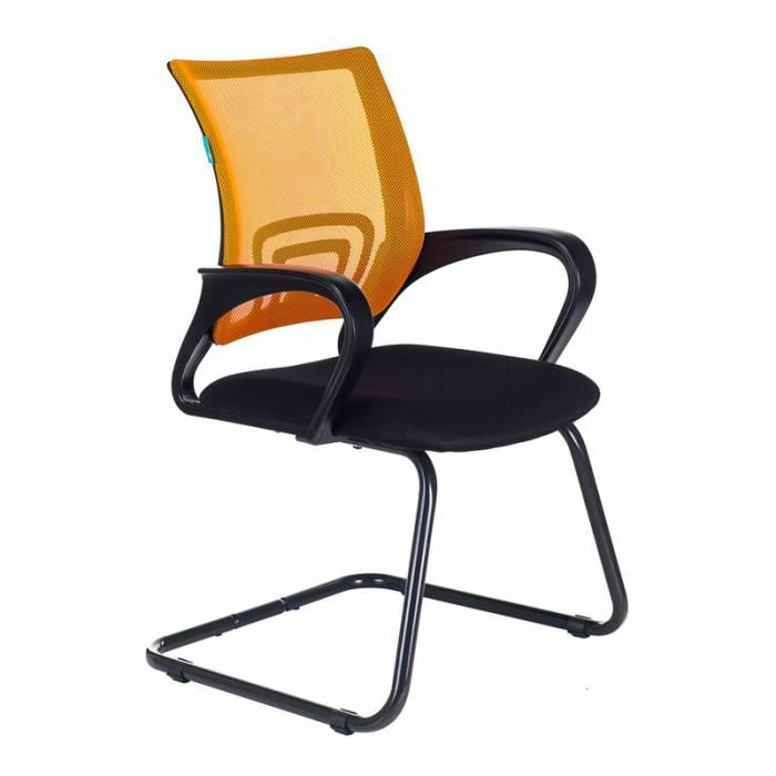 Кресло Бюрократ CH-695N-AV/OR/TW-11 на полозьях оранжевый TW-38-3 сиденье черный TW-11 купить по выгодным ценам