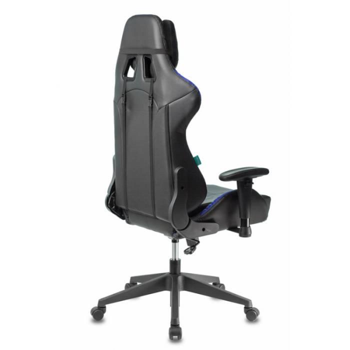 Кресло игровое Бюрократ VIKING 5 AERO BLUE черный/синий искусственная кожа купить по выгодным ценам