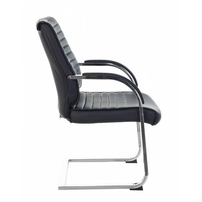 Кресло Бюрократ T-8010N-LOW-V/BLACK на полозьях черный Leather Black искусственная кожа купить по выгодным ценам